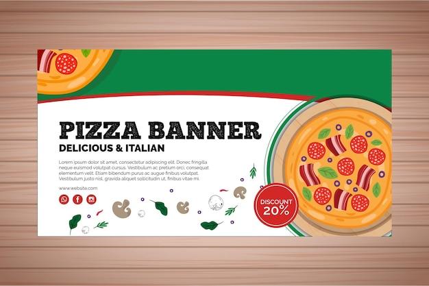 Bannière Pour Pizzeria Vecteur gratuit
