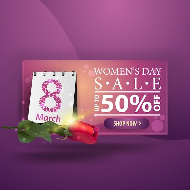Bannière pourpre moderne pour femmes Vecteur Premium