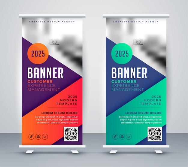 Bannière de présentation rollup pour votre entreprise Vecteur gratuit