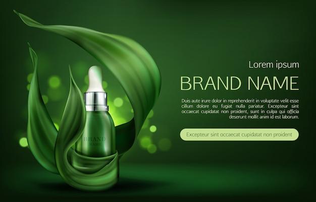 Bannière de produits de soins de la peau naturelle Vecteur gratuit