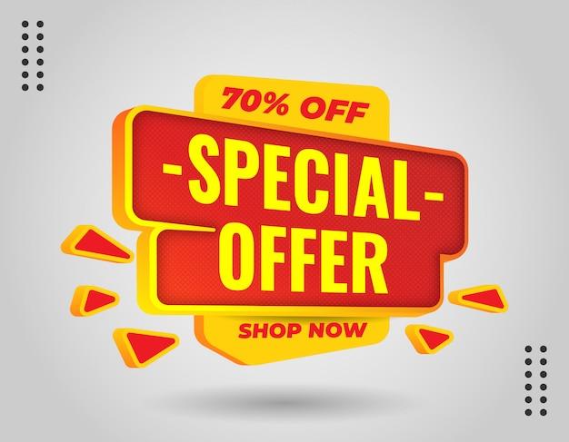 Bannière De Promotion élégante 3d Pour Promouvoir Votre Entreprise Et Votre Offre Vecteur Premium