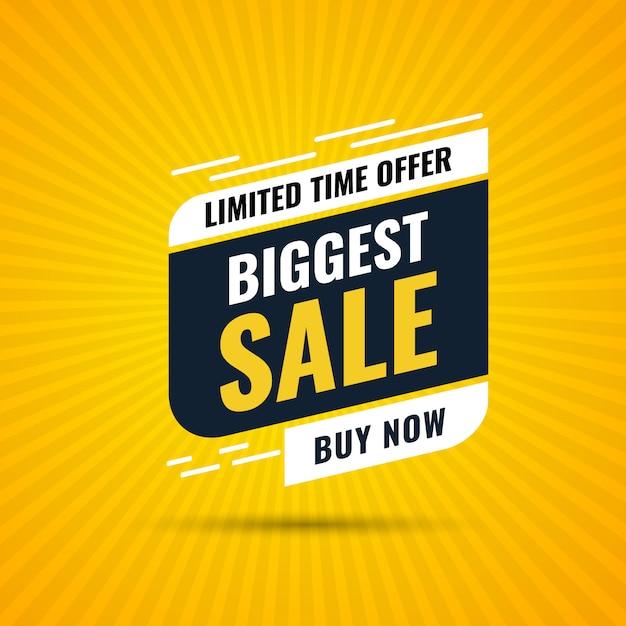 Bannière De Promotion De Vente D'offre Spéciale Avec étiquette De Vente Et Modèle De Bouton Acheter Maintenant Vecteur Premium