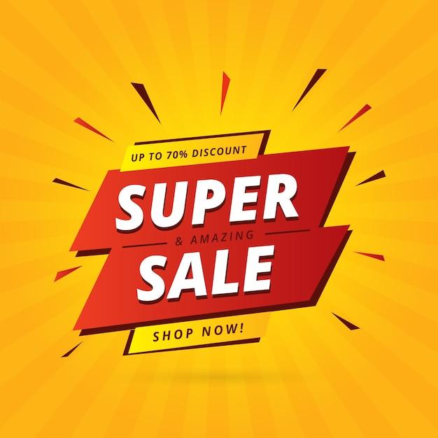 Bannière de promotion des ventes abstraite Vecteur gratuit