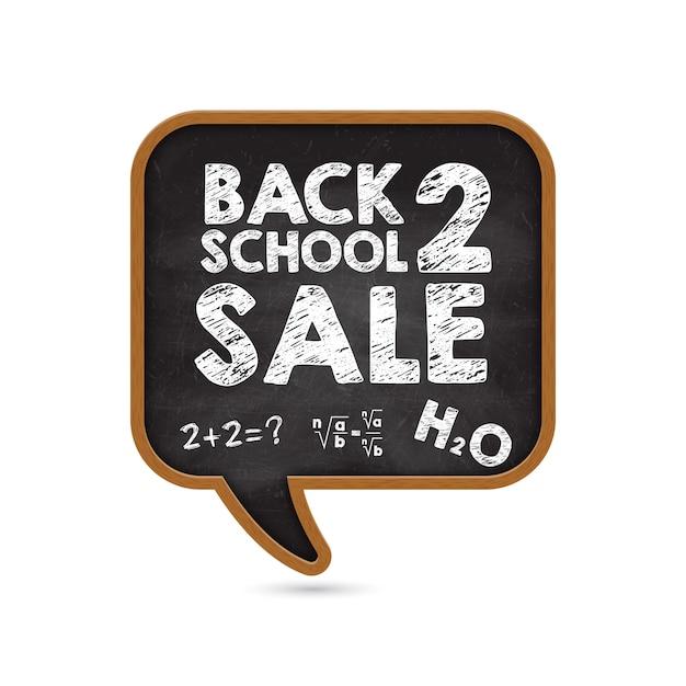Bannière promotionnelle à la réduction de la vente de l'école. Vecteur Premium