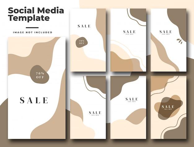 Bannière De Publication De Flux Instagram De Médias Sociaux Vecteur Premium