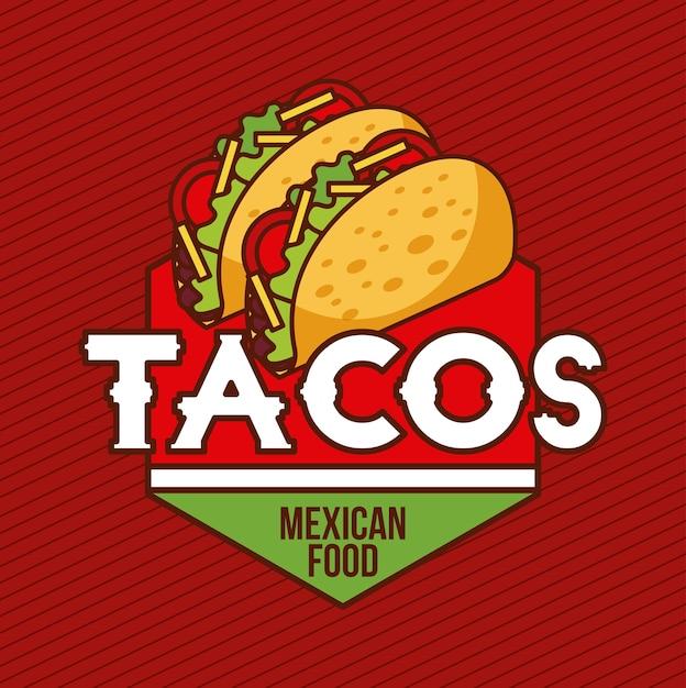 Bannière Publicitaire De Carte De Nourriture Mexicaine Tacos Vecteur Premium
