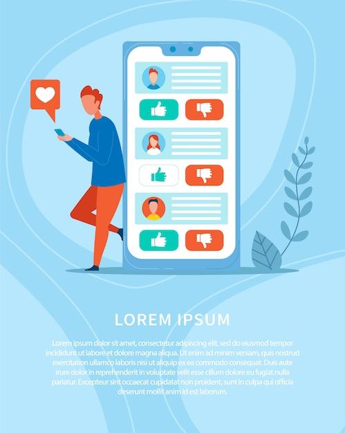 Bannière publicitaire réseaux sociaux et réseaux Vecteur Premium