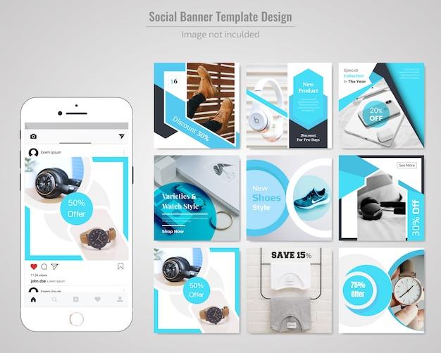 Bannière de réseau social sur le produit Vecteur Premium