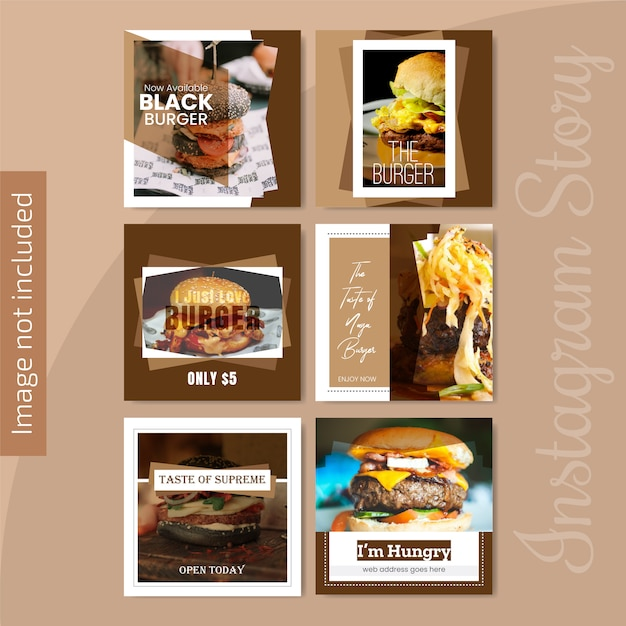 Bannière des réseaux sociaux pour le restaurant Vecteur Premium