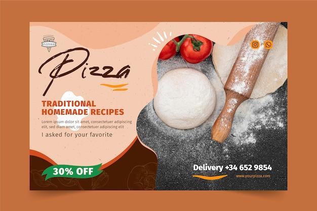 Bannière De Restaurant De Pizza Vecteur gratuit