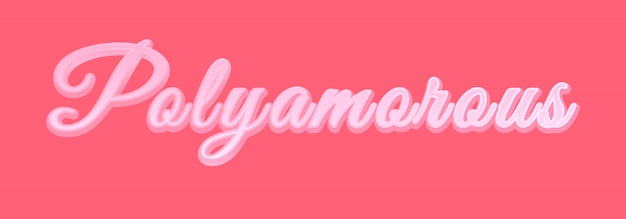 Bannière Rose Polyamour. Vecteur Premium