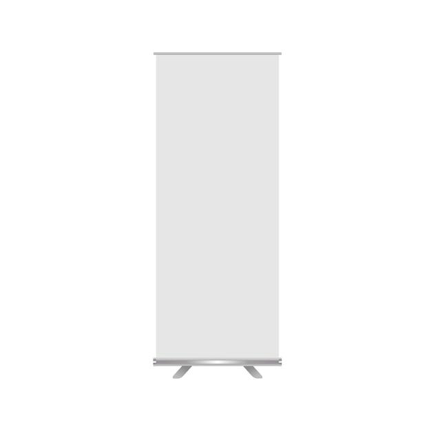 Bannière de rouleau de maquette de vecteur blanc Vecteur Premium
