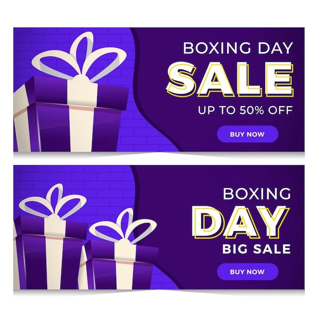 Bannière sale boxing day Vecteur Premium