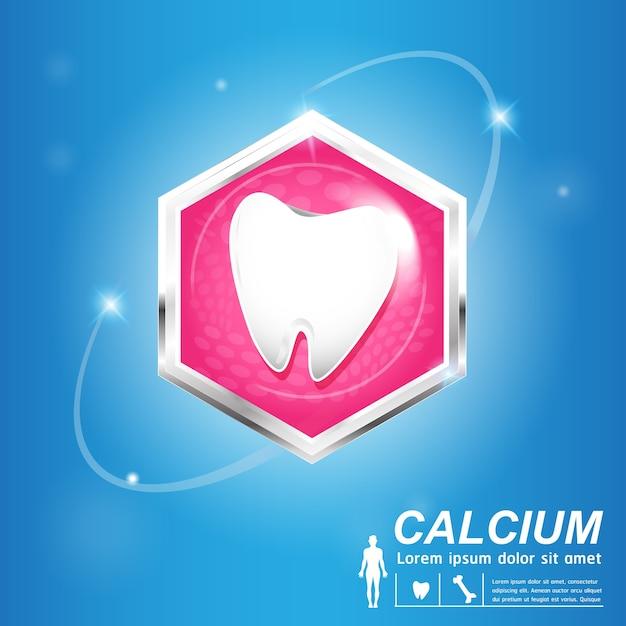 Bannière De Soins Dentaires Et Dents Vecteur Premium