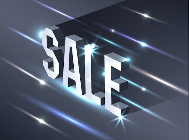 Bannière sombre pour la vente du vendredi noir. Vecteur Premium