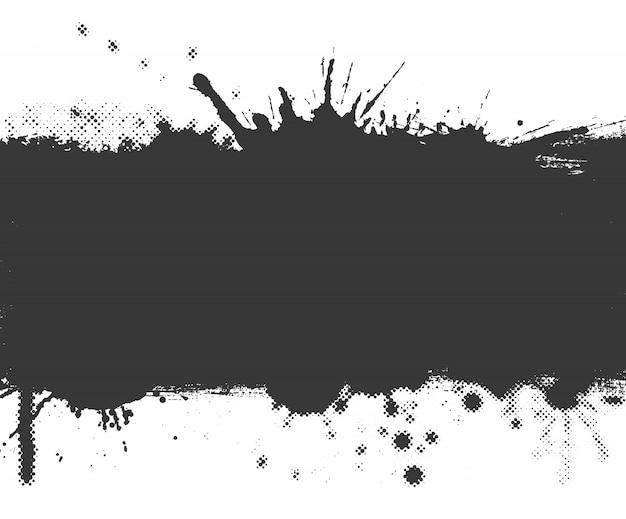 Bannière Splash Grunge Vecteur Premium