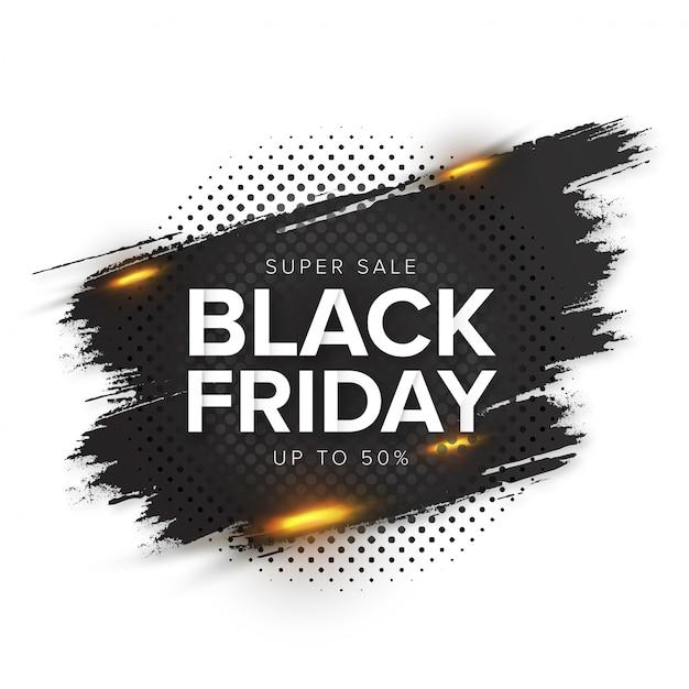 Bannière splash vendredi noir moderne Vecteur gratuit
