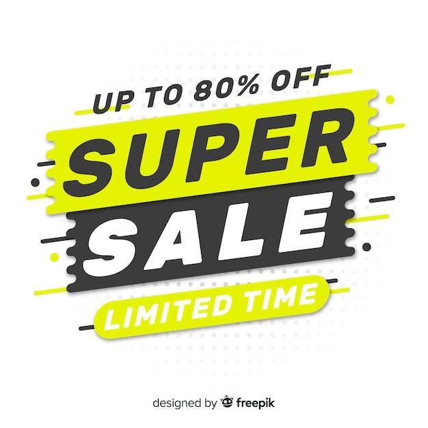 Bannière Super Vente Vecteur Premium