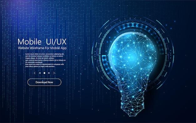 Bannière De Technologie Abstraite Vecteur Premium