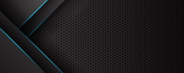 Bannière De Technologie Futuriste Abstraite Lumière Bleue Vecteur Premium