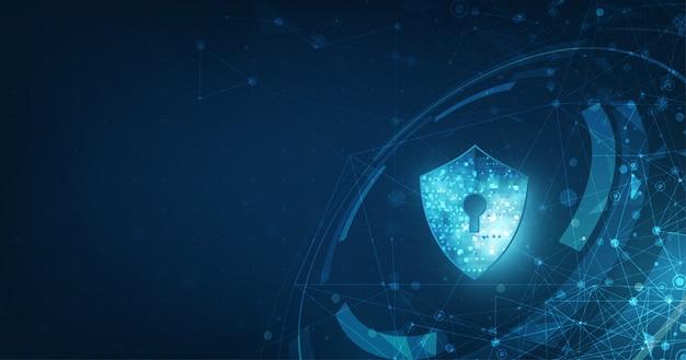 Bannière De Technologie Numérique De Sécurité Abstraite. Vecteur Premium