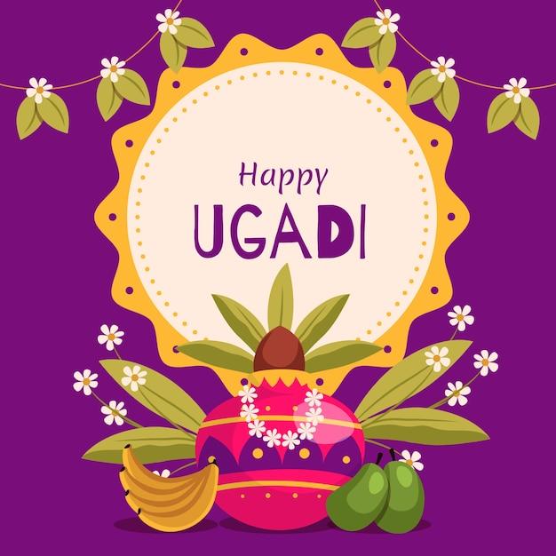 Bannière Traditionnelle Ugadi Vecteur gratuit