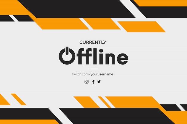 Bannière Twitch Actuellement Hors Ligne Avec Des Formes Abstraites Vecteur gratuit