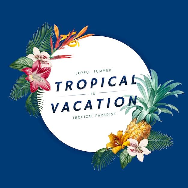 Bannière De Vacances Tropicales Vecteur gratuit