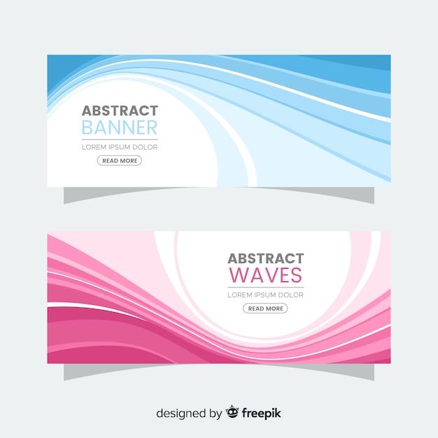Bannière vagues abstraites Vecteur gratuit