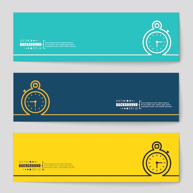 Bannière de vecteur de concept créatif. Vecteur Premium