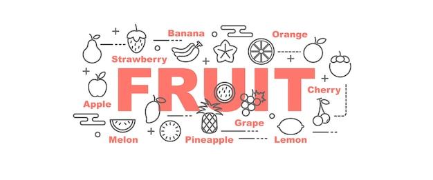 Bannière De Vecteur De Fruits Vecteur Premium