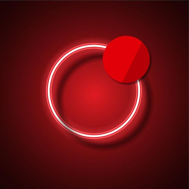 Bannière de vecteur de néon moderne. bannière rougeoyante. Vecteur Premium