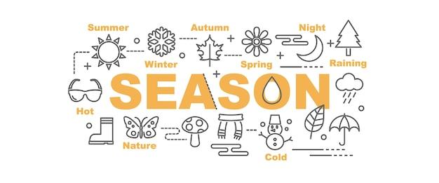 Bannière de vecteur de saison Vecteur Premium