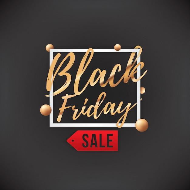Bannière de vente black friday Vecteur Premium