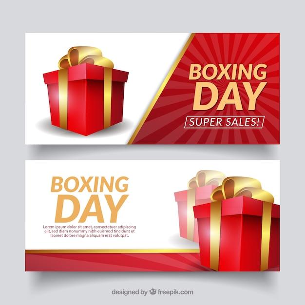 Bannière de vente de boxe Vecteur gratuit