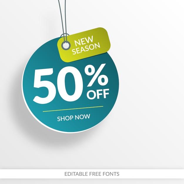 Bannière de vente créative Vecteur Premium