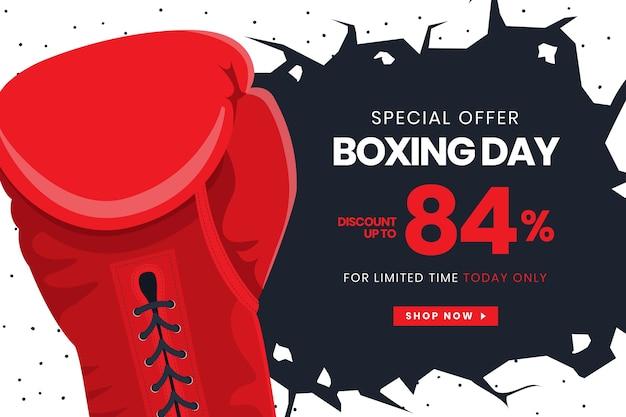 Bannière de vente design plat boxing day Vecteur gratuit