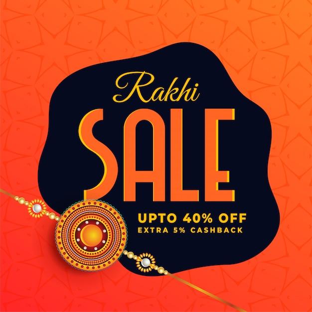 Bannière de vente du festival raksha bandhan Vecteur gratuit