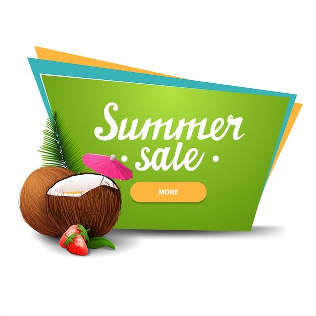 Bannière de vente d'été Vecteur Premium