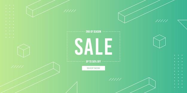 Bannière vente gradient Vecteur Premium