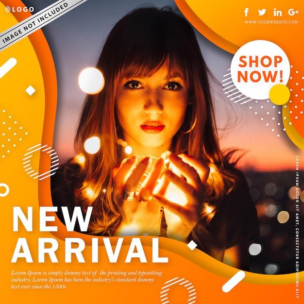 Bannière de vente de mode moderne Vecteur Premium