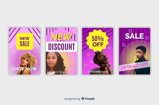 Bannière de vente de mode Vecteur gratuit