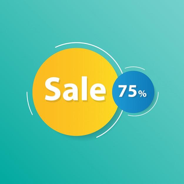 Bannière de vente moderne Vecteur Premium