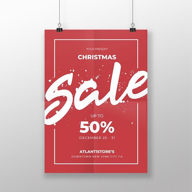 Bannière De Vente De Noël Vecteur Premium
