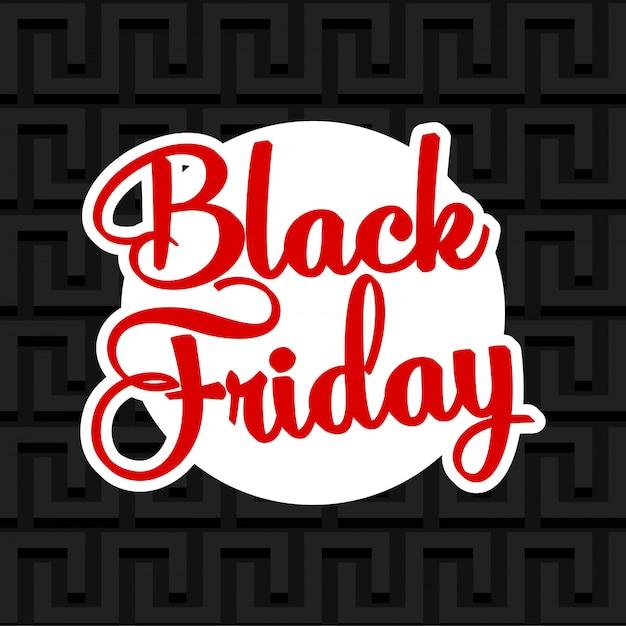 Bannière de vente offre spéciale vendredi noir. Vecteur Premium