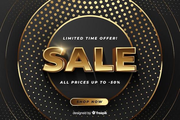 Bannière de vente avec offre spéciale Vecteur gratuit