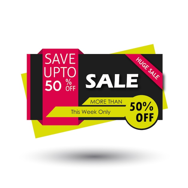 Bannière de vente vector illustration graphique Vecteur gratuit