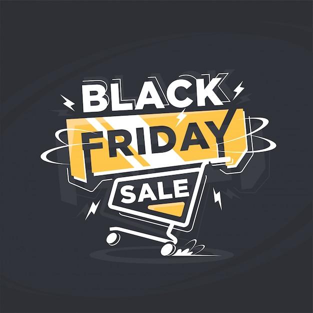 Bannière de vente vendredi noir moderne Vecteur Premium