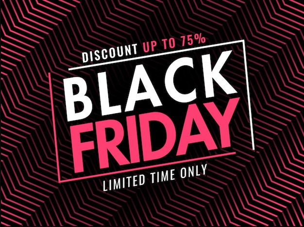 Bannière de vente vendredi noir Vecteur Premium