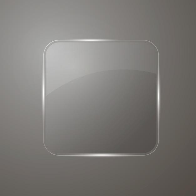 Bannière en verre réfléchissant Vecteur Premium